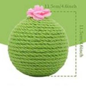 MIAOFAIRY Miniature Prickly Pear Sisal Cat Toy
